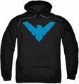 Nightwing pull-over hoodie Nightwing adult black