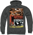 Batman pull-over hoodie Old Movie Poster adult charcoal
