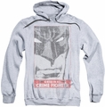 Batman pull-over hoodie Orginal Crime Fighter adult athletic heather