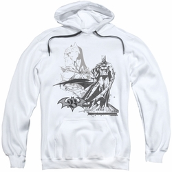 Batman pull-over hoodie Overseer adult white