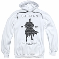 Batman pull-over hoodie Paislety Silhouette adult white