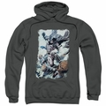 Batman pull-over hoodie Punch adult charcoal