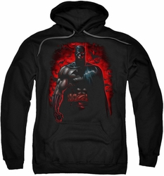 Batman pull-over hoodie Red Knight adult black