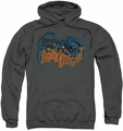 Batman pull-over hoodie Retro Dark Knight adult charcoal