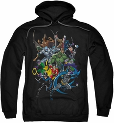 Batman pull-over hoodie Saints And Psychos adult black