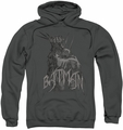 Batman pull-over hoodie Scary Right Hand adult charcoal