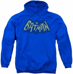 Batman pull-over hoodie Show Bat Logo adult royal blue