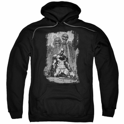 Batman pull-over hoodie Sketchy Shadows adult black