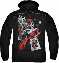 Harley Quinn pull-over hoodie Smoking Gun adult black