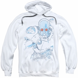 Mr Freeze pull-over hoodie Snowblind Freeze adult white