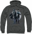 Batman pull-over hoodie Spotlight adult charcoal