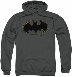 Batman pull-over hoodie Spray Paint Logo adult charcoal