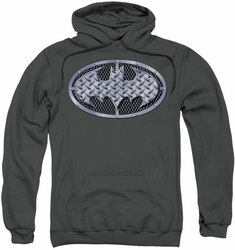 Batman pull-over hoodie Steel Mesh Shield adult charcoal