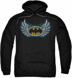 Batman pull-over hoodie Steel Wings Logo adult black