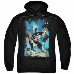 Batman pull-over hoodie Stormy Dark Knight adult black