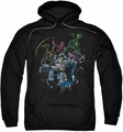 Batman pull-over hoodie Surrounded adult black