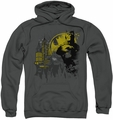 Batman pull-over hoodie The Dark City adult charcoal