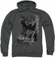 Batman pull-over hoodie The Knight Life adult charcoal