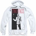 Batman pull-over hoodie Two Face adult white