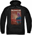 Two-Face pull-over hoodie Two Faces adult black