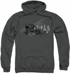 Batman pull-over hoodie Urban Crusader adult charcoal