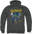 Batman pull-over hoodie Urban Gothic adult charcoal