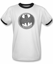 Batman ringer t-shirt Knight Knockout adult white black