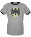 Batman ringer t-shirt Old Time Logo adult heather black