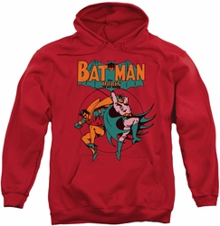 Batman pull-over hoodie Starling Shock adult red