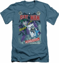 Batman slim-fit t-shirt #251 Distressed mens slate