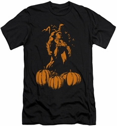 Batman slim-fit t-shirt A Bat Among Pumpkins mens black