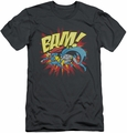 Batman slim-fit t-shirt Bam mens charcoal