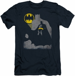Batman slim-fit t-shirt Bat Knockout mens navy