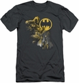 Batman slim-fit t-shirt Bat Signal mens charcoal