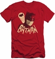 Batman slim-fit t-shirt Bat Signal mens red