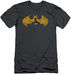 Batman slim-fit t-shirt Bat Symbol Knockout mens charcoal