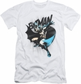 Batman slim-fit t-shirt Batarang Throw mens white