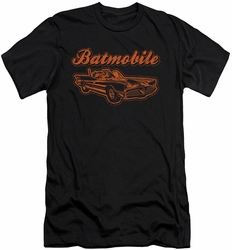 Batman slim-fit t-shirt Batmobile mens black