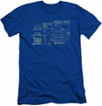 Batman slim-fit t-shirt Batmobile mens royal blue