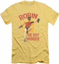 Batman slim-fit t-shirt Boy Wonder mens banana/trans yellow