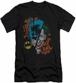 Batman slim-fit t-shirt Broken Visage mens black