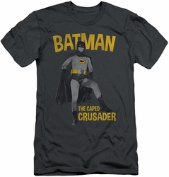 Batman slim-fit t-shirt Caped Crusader mens charcoal