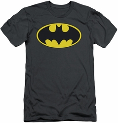 Batman slim-fit t-shirt Classic Bat Logo mens charcoal