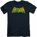 Batman slim-fit t-shirt Classic Logo mens navy