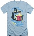 Batman slim-fit t-shirt Courageous Warriors mens light blue