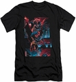 Batman slim-fit t-shirt Dark Knight Panels mens black