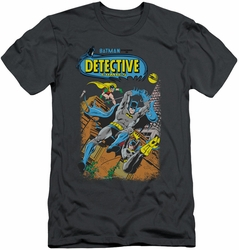 Batman slim-fit t-shirt Detective #487 mens charcoal