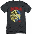 Batman slim-fit t-shirt Detective 75 mens charcoal