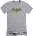 Batman slim-fit t-shirt Faded Logo mens heather