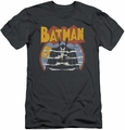 Batman slim-fit t-shirt Foggy mens charcoal